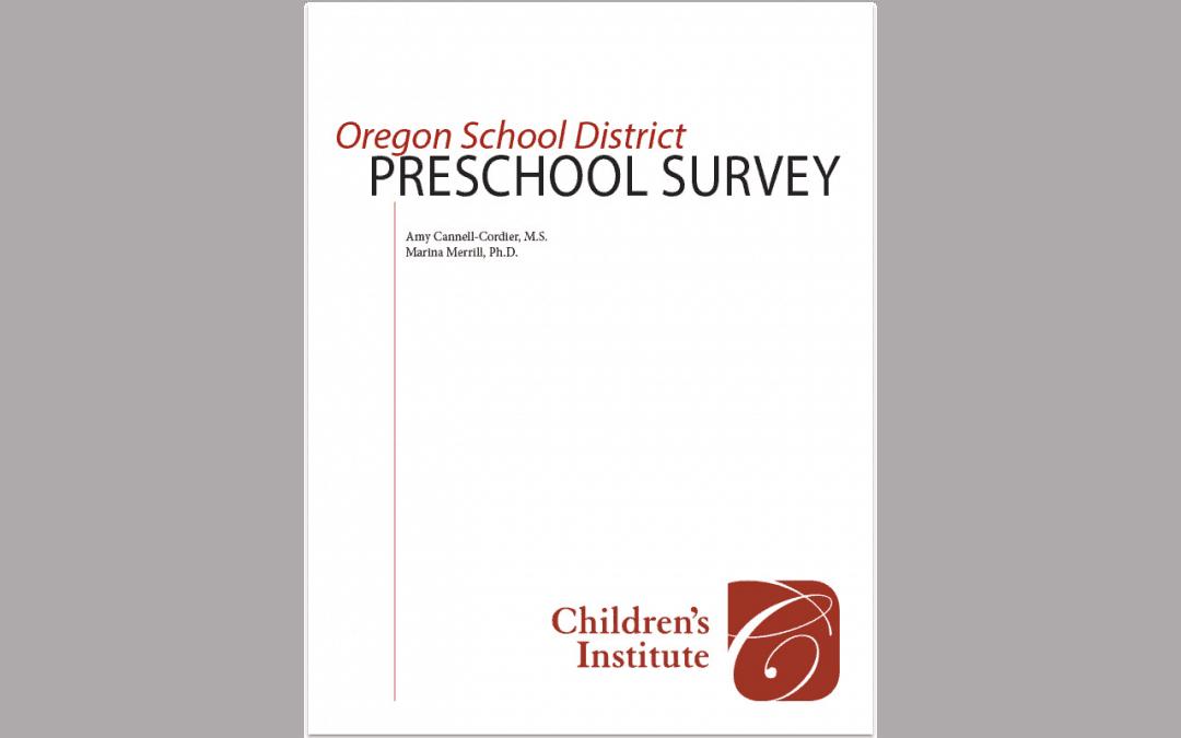Oregon School District Preschool Survey