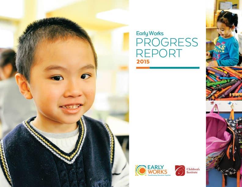Early Works Progress Report