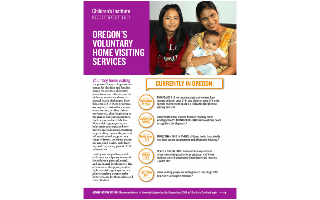 Oregon's Voluntary Home Visiting Services