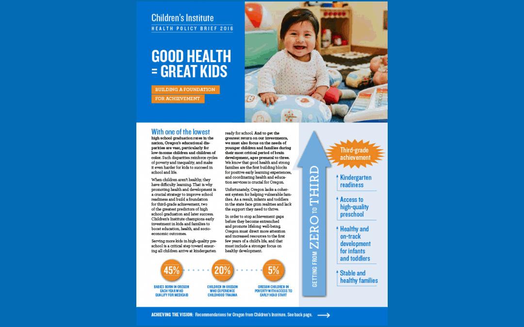 Good Health = Great Kids