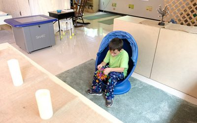 A student in the Skills Learning Center at John Wetten Elementary