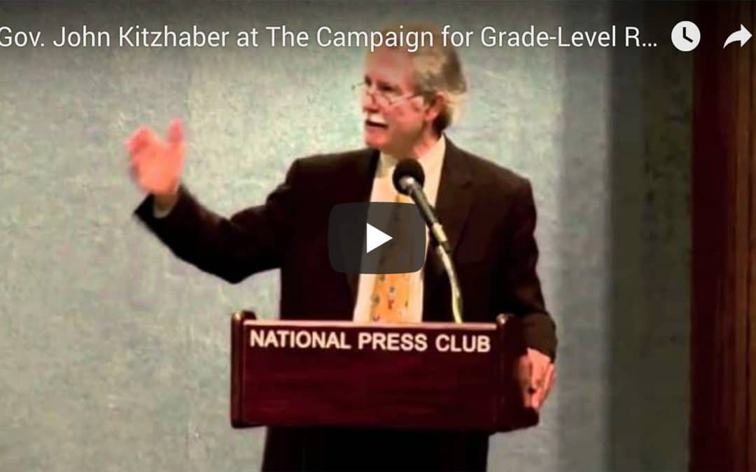Governor Kitzhaber addresses the Campaign for Grade-Level Reading