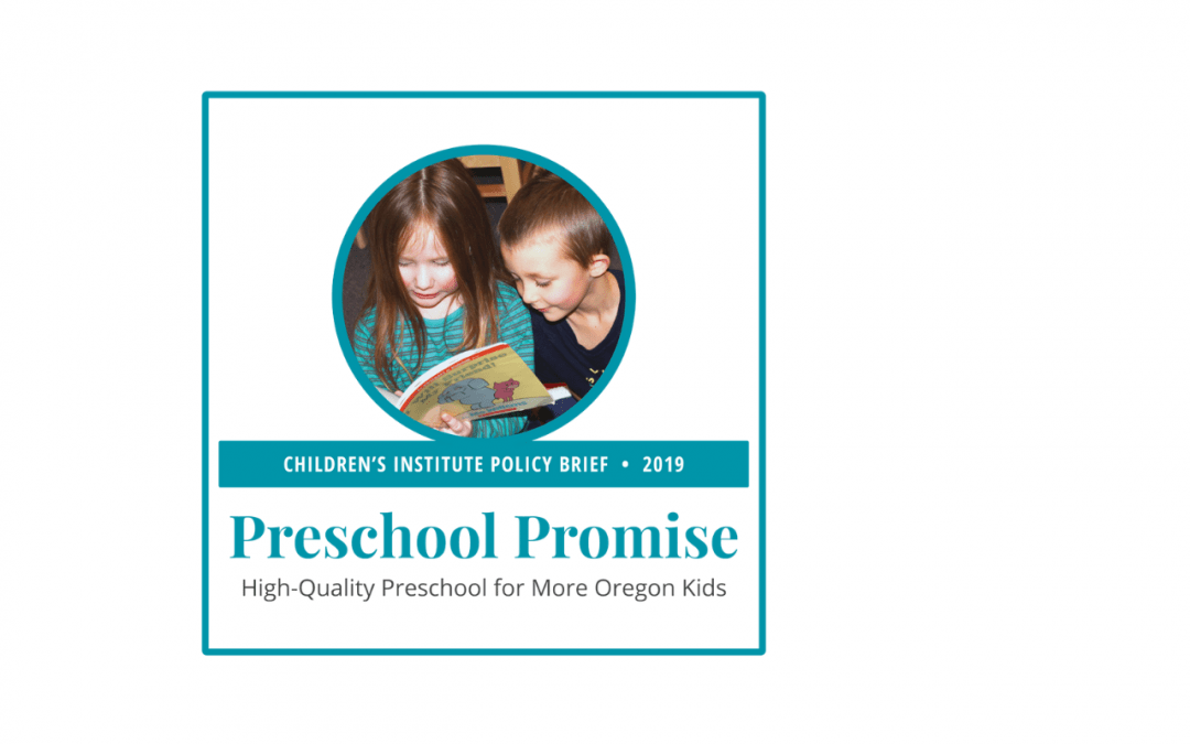 Preschool Promise: 2019 Policy Brief