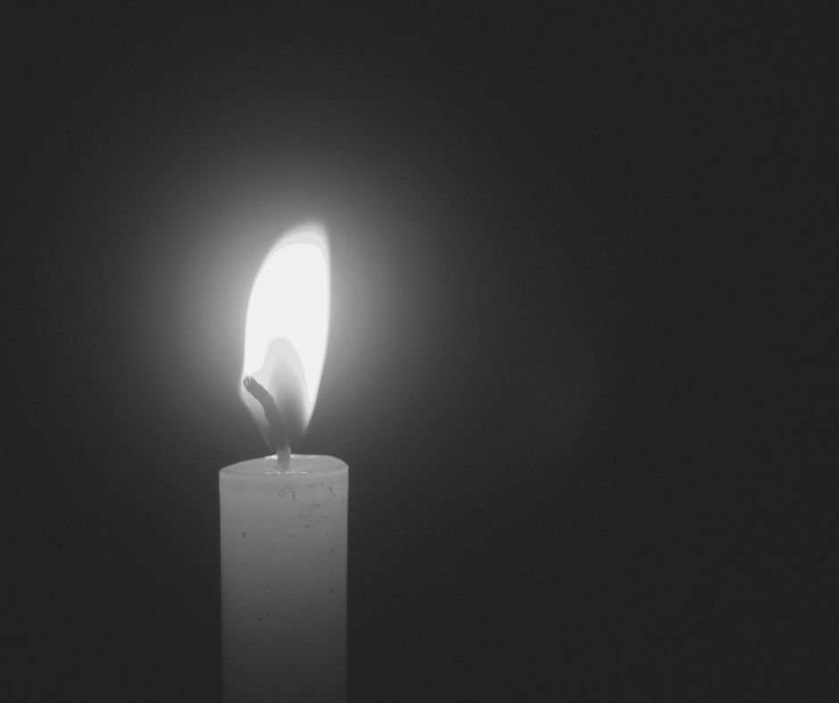 black white candle